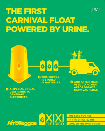 """Pipi électrique"": quand le carnaval de Rio turbine à l'urine! 
