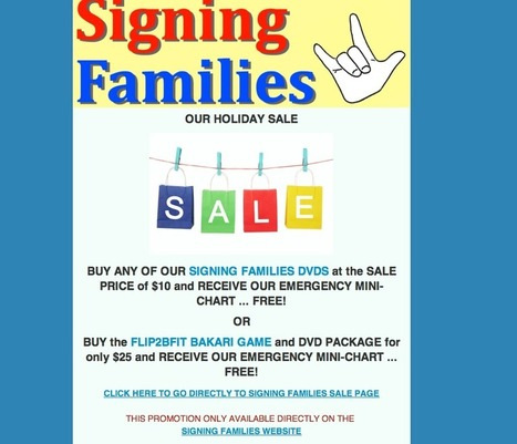Signing Families Holiday Sale for Kids and Families | Founder of SIGNING FAMILIES and 411VOICES.com | Scoop.it