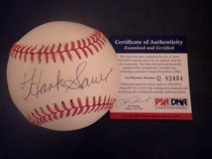 SAUER Signed Baseball Autographed Giants | Sport Outdoor | Scoop.it