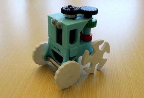 3D printed GearBot: A Dual Speed, Gear Driven Bot | Open Source Hardware News | Scoop.it