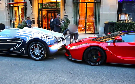 Supercars worth £2.5 million have a scrape | Strange days indeed... | Scoop.it