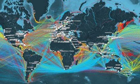 Hypnotic Map Shows The World's Cargo Ships Sailing Earth's Oceans | Everything from Social Media to F1 to Photography to Anything Interesting | Scoop.it