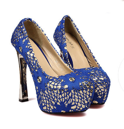 Wholesale 2013 vintage sequin pumps with personalized sequin CZ-2926 blue - Lovely Fashion | Chic summer streetstyle(sandals) | Scoop.it