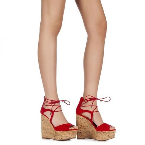 Le Silla Wedge sandal in Velour | Le Marche & Fashion | Scoop.it