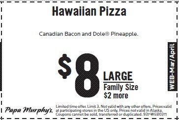 image relating to Papa Murphy's Printable Coupon called Printable Pizza Discount codes for Papa Murphys Puyallup WA My