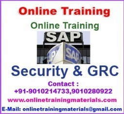 SAP Security & GRC online training institute in Ameerpet, SAP Security & GRC Online Training Institute from Hyderabad India.   Online Training Materials   Online Training   Scoop.it
