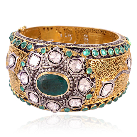 14k Gold Diamond Antique Cuff Bangle | Diamond Jewelry | GemcoDesigns | Pave Diamond Bangle | Diamond Jewelry | GemcoDesigns | Scoop.it