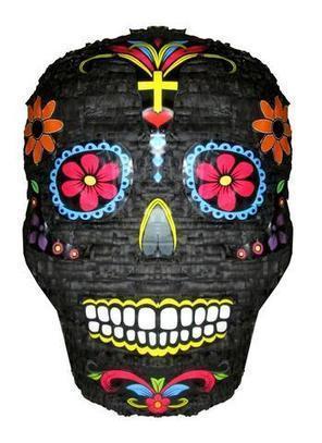 Medium Day of the Dead Black Skull Pinata | Pinatas | Scoop.it