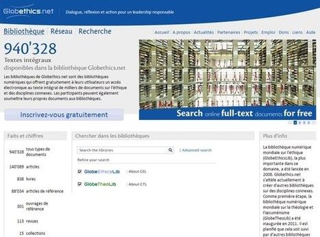 GlobeTheoLib, une bibliothèque théologique en ligne | La-Croix.com | Bibliothèques numériques | Scoop.it