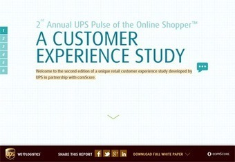 UPS Pulse of the Online Shopper™ A Customer Experience Study | CTE Marketing | Scoop.it