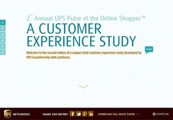 UPS Pulse of the Online Shopper™ A Customer Experience Study | education, business teaching learning | Scoop.it
