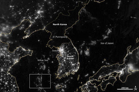 La nuit, la lumière dessine une carte inédite de l'humanité sur Terre | TRANSITURUM | Scoop.it