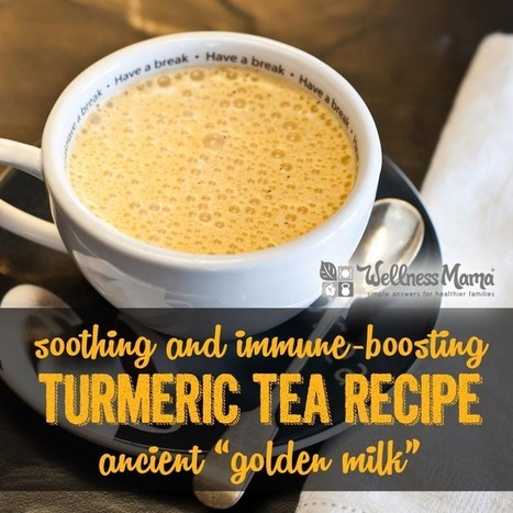 Turmeric Tea Golden Milk Recipe - Wellness Mama | Nutrition Today | Scoop.it