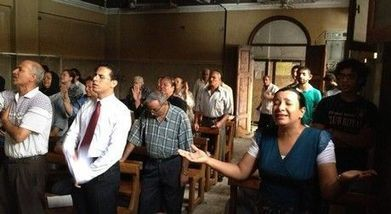 Egyptian Christians return to worship in church destroyed by Muslim Brotherhood   Conflict In Egypt   Scoop.it