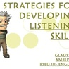Listening and Speaking in Second or Foreign Language Teaching