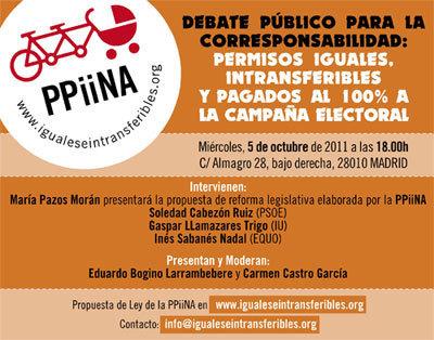PPIINA: Debate público para la corresponsabilidad: Permisos iguales, intransferibles y pagados al 100% a la campaña electoral   Cuidando...   Scoop.it