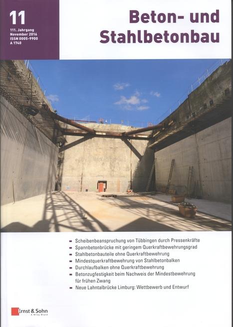 Beton- und Stahlbetonbau, Jahrgang 111, nº 11 (2016)   Ingeniería Civil   Scoop.it