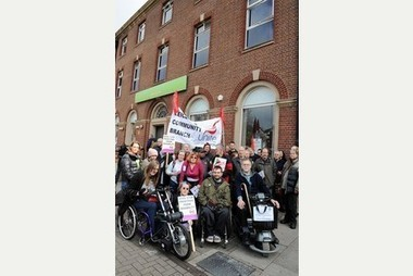 Dozens in protest over disability benefits tests | Disability and Society | Scoop.it