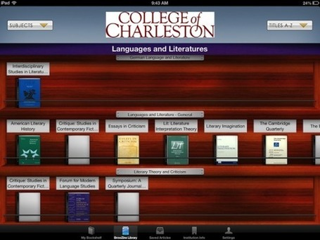 Browzine: Academic Journals on Your Tablet - ProfHacker - The Chronicle of Higher Education | mLearning anywhere, anytime, anyhow ... | Scoop.it