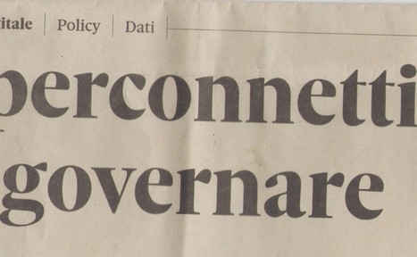 "Ubiquitous Commons: article on Nòva 24, on il Sole24Ore, ""governing hyperconnectivity"" 