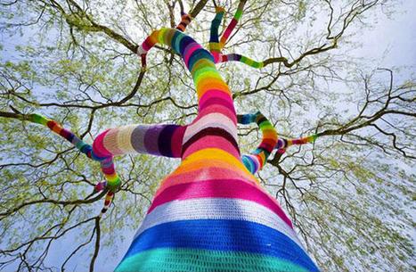Le Yarn Bombing, le phénomène qui met l'art urbain au tricot envahit nos rues ! | Arts & Culture | Scoop.it