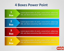 Four Box PowerPoint Template for Lineal Process | Social media | Scoop.it