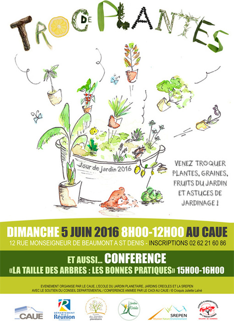 Préparez vos plantes, graines, boutures pour le troc du CAUE! - Le Journal de l'île de la Réunion | (Culture)s (Urbaine)s | Scoop.it