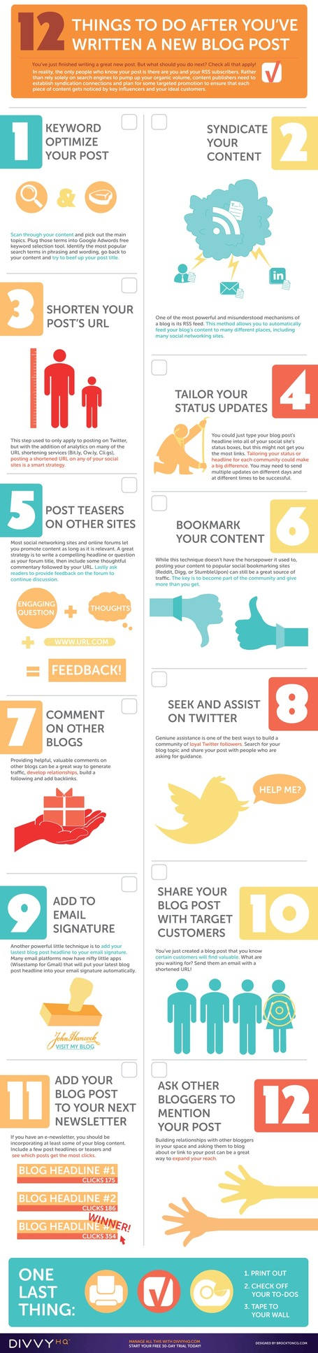 12 Things To Do After You've Published a New Blog Post | Infographic | Marketing Revolution | Scoop.it