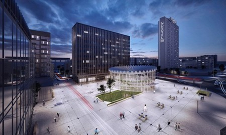 """Utilizing the Public Square in a Multifaceted Way: the Winning Design for the 2013 """"Changing the Face"""" Competition, Warsaw 