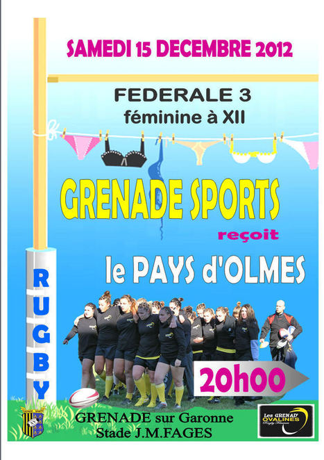 GRENADE SPORTS   Accueil   Le Rugby Féminin #4   Scoop.it