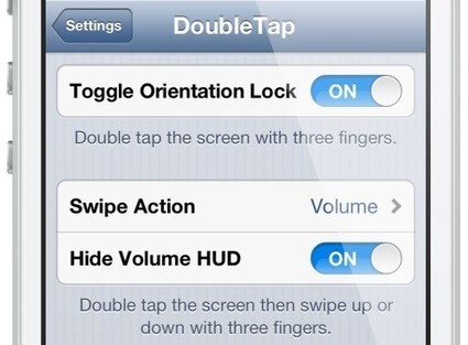 DoubleTap: toggle brightness and volume with double tap gestures | Jailbreak News, Guides, Tutorials | Scoop.it
