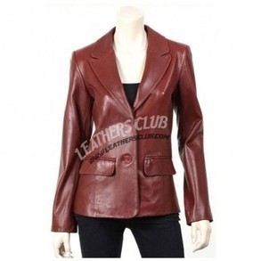 Brown Color Two Button Stylish Leather Jacket/Coat   Men's Leather Jackets   Scoop.it