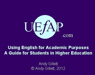 Using English for Academic Purposes (UEfAP)- A resource site for teachers | Useful Websites for Teaching | Scoop.it