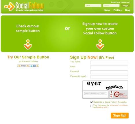 Social Follow | Create a Follow Me Buttonbutton | Outils Web2, quelques références | Scoop.it