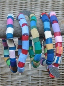 Bracelets made from recycled flip-flops   9 Environmental Science   Scoop.it