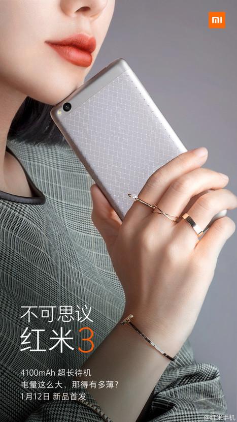 Le Xiaomi Redmi 3 est officiel : le smartphone de milieu de gamme parfait à 100 euros - FrAndroid | flux rss twitter g+  facebook | Scoop.it