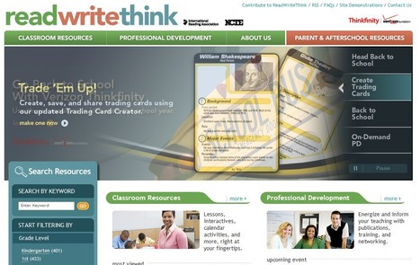 ReadWriteThink Providing educators and students access to the highest quality practices and resources in reading and language arts instruction. | 21st Century Tools for Teaching-People and Learners | Scoop.it