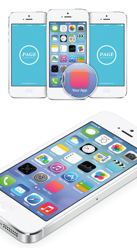 iOS 7 Home Screen Free PSD Mockup | The Official Photoshop Roadmap Journal | Scoop.it