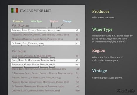 Understanding an Italian Wine List Step-by-Step | Wines and People | Scoop.it