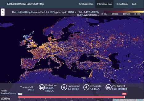 Global Historical Emissions Map | DataViz | Scoop.it