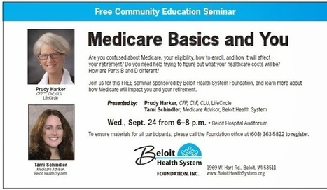 "Free seminar ""Medicare Basics and You"" on Wednesday, September 24 