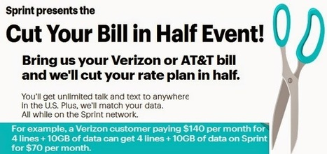 Sprint Offers a Half-Price Deal for Verizon, AT&T Users. | Best Cell Phone Plans | Cell phone plans | Scoop.it