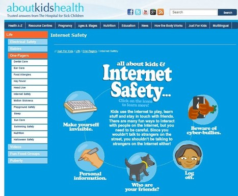 Internet Safety For Kids - AboutKidsHealth | 21st Century Information Fluency | Scoop.it