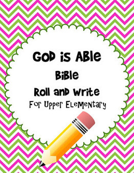 Bible Lessons for Kids: God is Able Bible Roll and Write Free Printable | Children's Ministry Ideas | Scoop.it