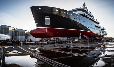 9 voyages en express-côtier Hurtigruten + actualité arctique & antarctique: Concarneau : le Yersin prêt pour être mis à l'eau (8 photos) | photo en Bretagne - Finistère | Scoop.it