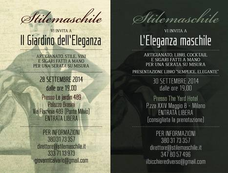 L'ELEGANZA MASCHILE: VIAGGIO NELL'IMMAGINARIO MASCHILE TRA CULTURA, STILE E ARTIGIANATO. | SPARKLING BUBBLES and MORE. | Scoop.it