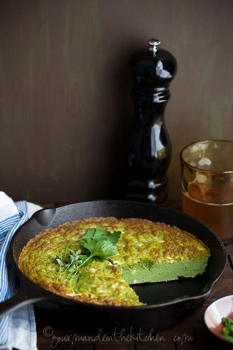 Ricotta, Herb Frittata with Feta | Gourmande in the Kitchen | À Catanada na Cozinha Magazine | Scoop.it