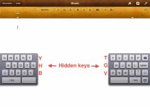 """Type faster on the iPad's split keyboard with six hidden keys 