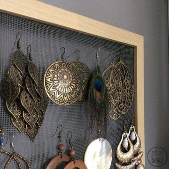 DIY : un présentoir à boucles d'oreilles en grillage | Bricolage pour mes enfants | Scoop.it