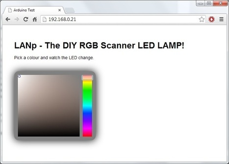 LANp – A DIY Arduino network controllable RGB lamp made from scanner parts! | The hack shed | Open Source Hardware News | Scoop.it